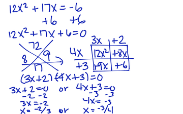 Solving A Quadratic Equation By Factoring | Educreations
