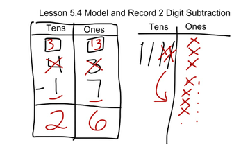 Lesson 54 Model And Record 2 Digit Subtraction